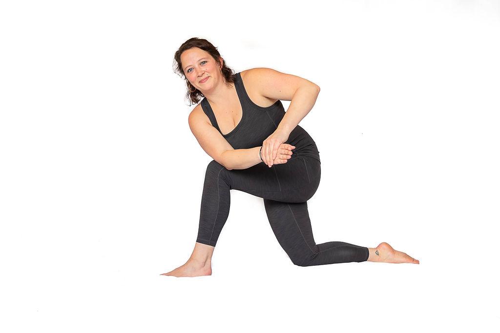 Kneeling Large intestine exercise