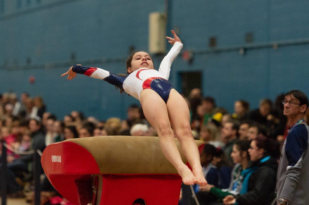 Young Gymnast Vaulting